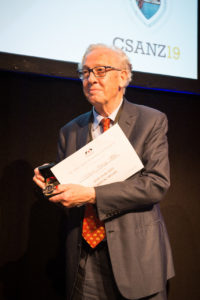 Professor White with the New Zealand Cardiac Medal