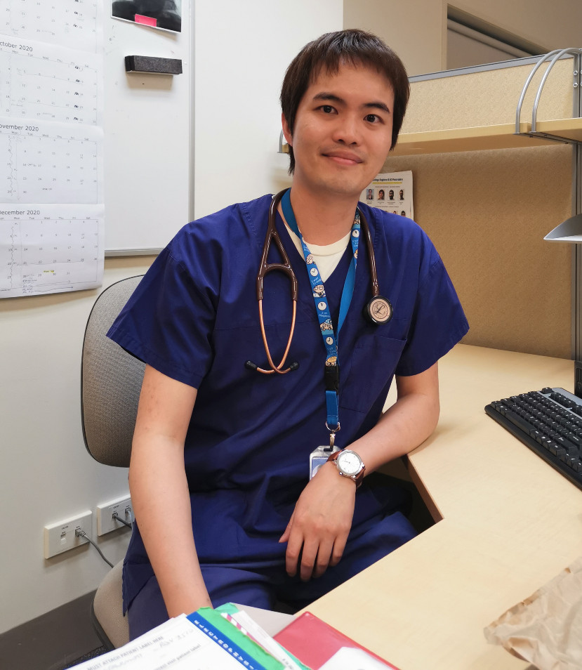 Dr Wong at work